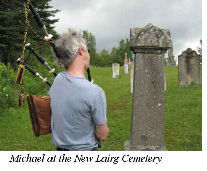 Michael at New Lairg Cemetery